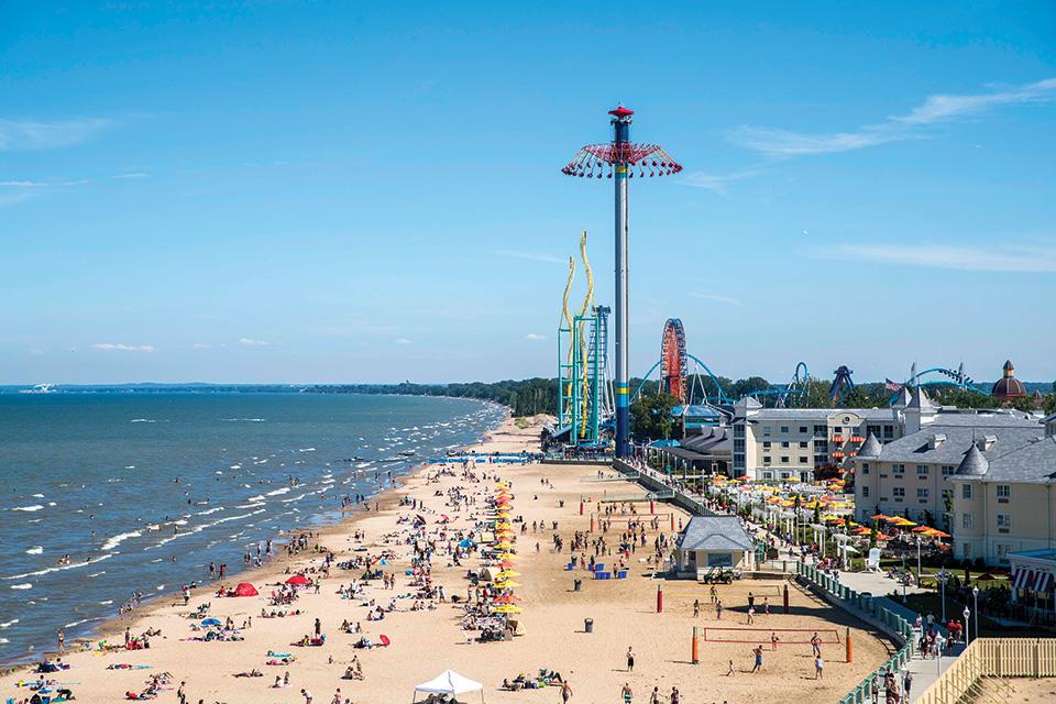 Cedar Point beach (photo courtesy of Cedar Point)