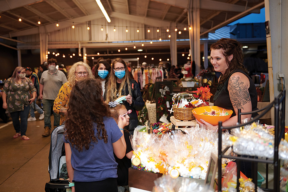 Women at Moonlight Market (photo by Andrew Eicher)
