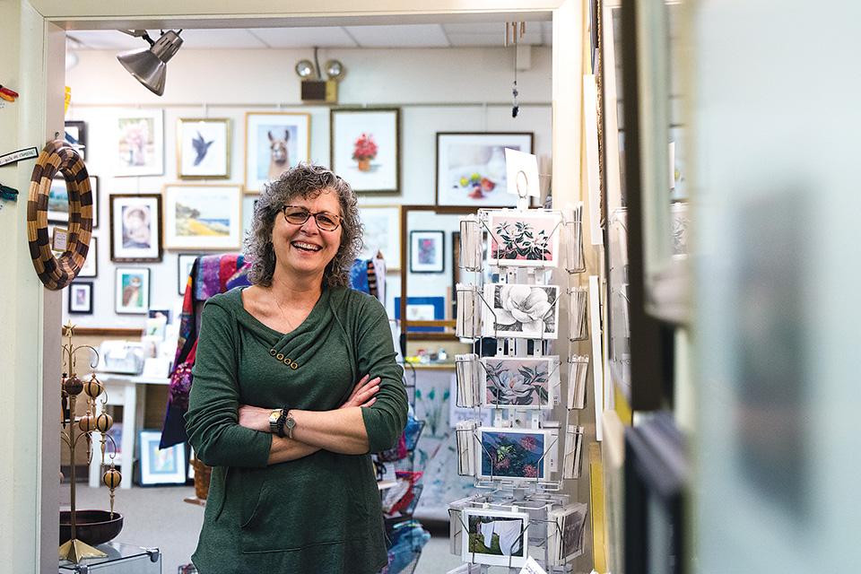 Melanie Gleaves Morrett of Village Artisans in Yellow Springs (photo by Stephanie Park)
