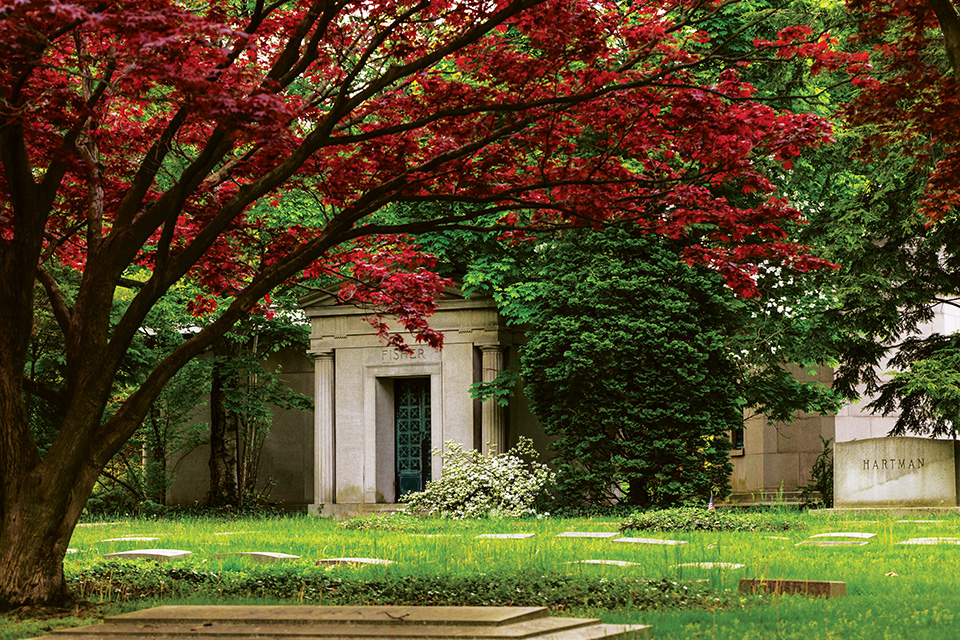 Lake View Cemetery in the fall (photo courtesy of Lake View Cemetery)