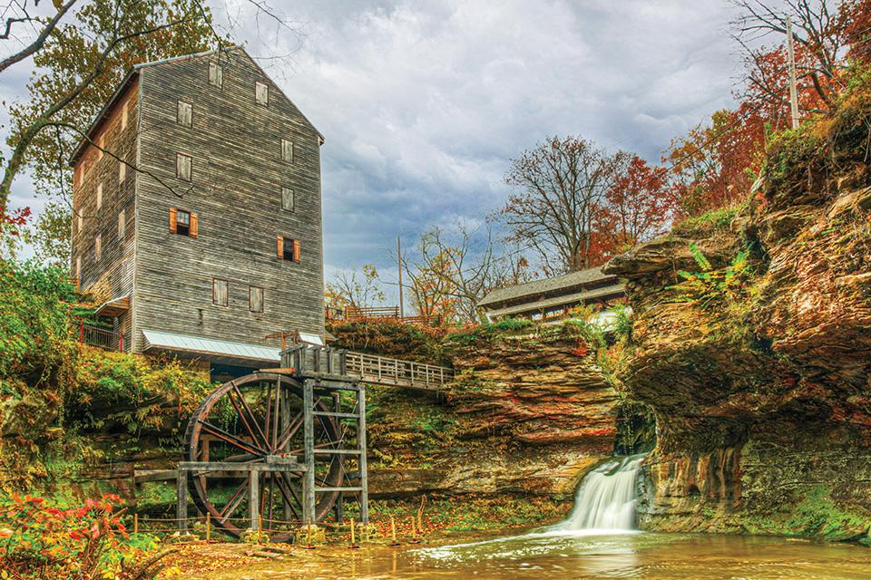 Rock Mill in fall (photo by Bruce Wunderlich)