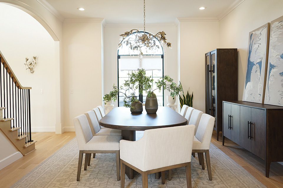 Dining table and chairs (photo courtesy of Homestead Furniture)