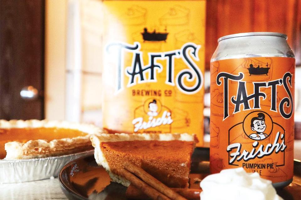 Taft's Brewing Co. pumpkin pie ale (photo courtesy of Taft's Brewing Co.)