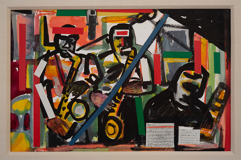 """Rehearsal Hall"" by Romare Bearden"