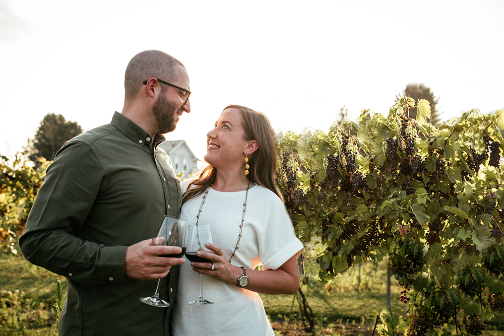 Couple at Winery in Mahoning County